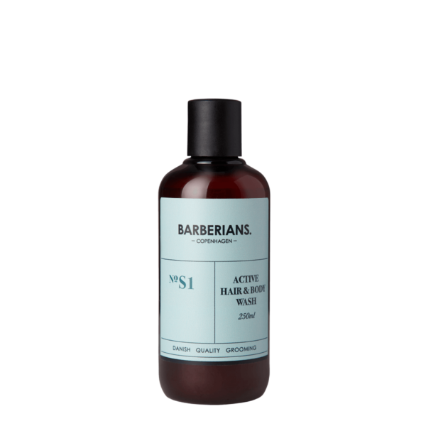 barberians copenhagen active hair and body wash 250 ml 2134